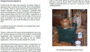 rv stoves